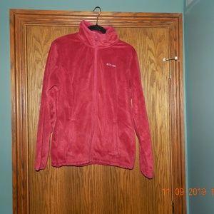 Women's Columbia Thin Soft Fleece Red Jacket